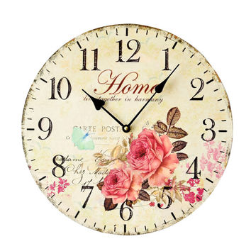 Living Room Decoration Pastoral Style Quiet Clock [4914940612]