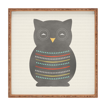 Allyson Johnson Native Owl 2 Square Tray