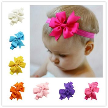 baby girl Kid Girl Baby Toddler Infant Bow Headband Hair Bow Band Casual Hair Accessories Head Wraps Accessories bandeau bow Big