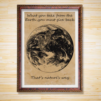 Space decor Astronomy print Earth poster