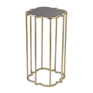 Mission Cocktail Table Soft Gold With Gloss Black