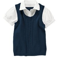 Uniform Layered Sweater Vest Top