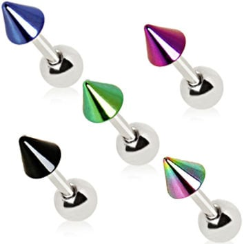 316L Surgical Steel Cartilage Earring with PVD Plated Spike