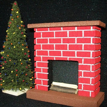 """MINIATURE CHRISTMAS TREE - 7"""" Tall -  Table Favors / Parties / Doll Houses / Holiday Layouts /  Scenery / Diorama"""