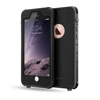 FITFORT iPhone 6 Plus Waterproof Case,Pro Series Extreme Durable Fully Sealed UnderWater Shock/Dust/Snow Proof Protective Cover