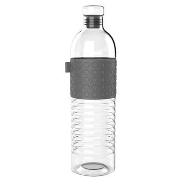 Ello Percy 24oz Glass Water Bottle Grey