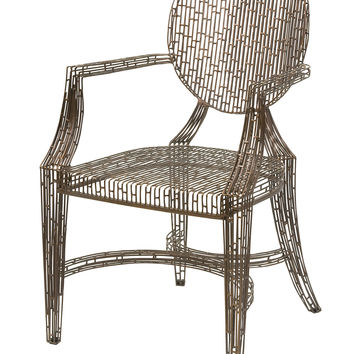 Fashionable Wilkins Handcrafted Metal Arm Chair