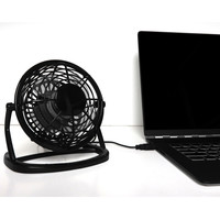 Evelots® USB Powered Mini Ultra Quiet Desktop Fan, Office, Home, Powerful, Black