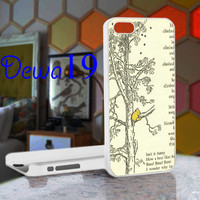 Whinnie the Pooh book page pooh and tree For iPhone 4/4S, iPhone 5 / iPhone 5S / iPhone 5c and Samsung Galaxy S3/S4 Case/Cover