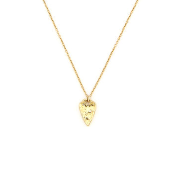 14K Gold Filled Baby Spike Heart Necklace