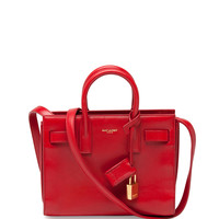 Sac de Jour Nano Crossbody Bag, Red - Saint Laurent