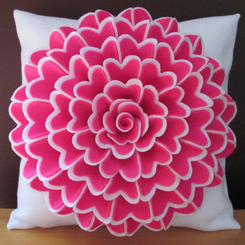 Pillow Pattern ISABELLA FLOWER Felt Flower Pillow Pattern with 2 Bonus Pillow Cover Patterns Tutorial PDF ePattern How To