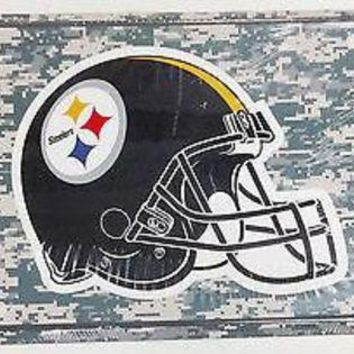 ONETOW Pittsburgh Steelers CAMO 2335 Metal Aluminum Novelty License Plate Tag Football