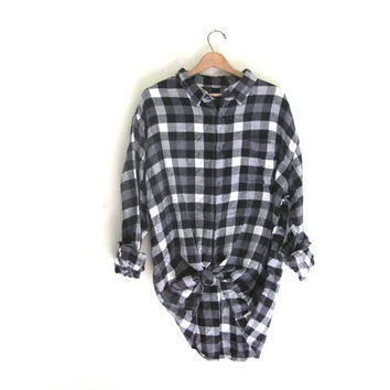 Vintage buffalo check Plaid Flannel / Grunge Shirt / Button up shirt