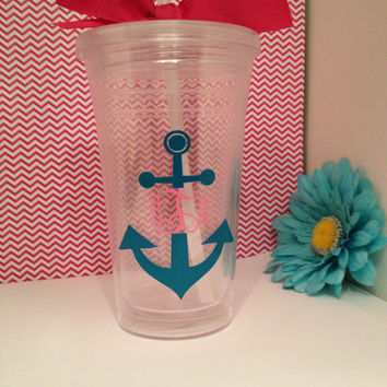 Monogrammed Anchor Cup