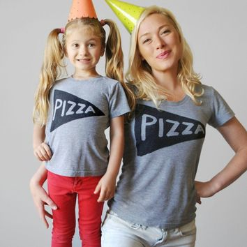 Pizza Slice Matching Mommy and Me Shirts