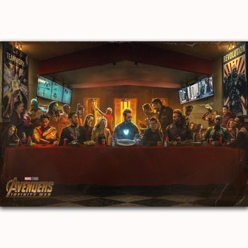 MQ3538  Hot 2018 Avengers Infinity War The Avengers 3 MARVEL Movie Art Poster Silk Canvas Home Decoration Wall Picture Printings