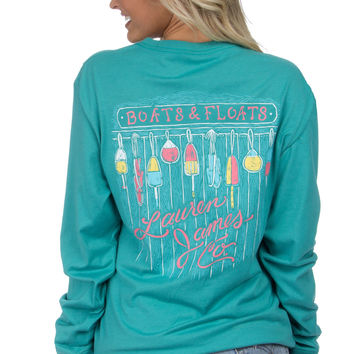 Lauren James: Boats & Floats Tee {Seafoam}