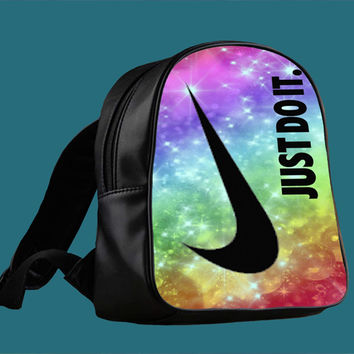 Nike Just Do It Rainbow Star Glitter Sparkle Print for Backpack / Custom Bag / School Bag / Children Bag / Custom School Bag *