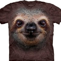 The Mountain Sloth Face T-Shirt, XX-Large, Brown