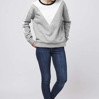 Colour-Block Sweatshirt - Tops - Clothing