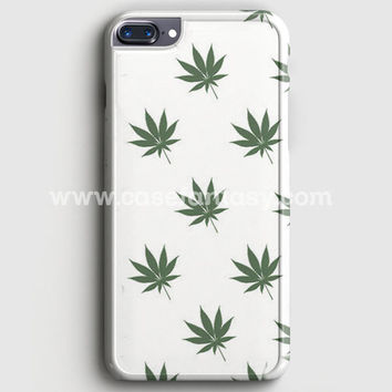 Marijuana Weed Leaf Pattern iPhone 7 Plus Case | casefantasy