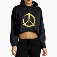 Moschino Peace Cropped Hoodie
