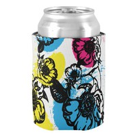 Large Floral Print Can Cooler