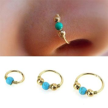 Gothic Steampunk Stainless Steel Nose Ring For Women