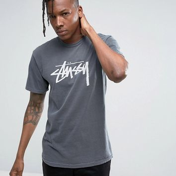 Stussy T-Shirt With Large Logo at asos.com