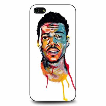 Acrylic Painting Of Chance The Rapper iPhone 5/5s/SE Case