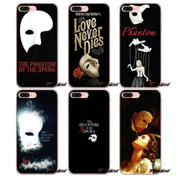 TPU Transparent Case Cover For Sony Xperia Z Z1 Z2 Z3 Z5 compact M2 M4 M5 E3 T3 XA Aqua LG G4 G5 G3 G2 Mini PHANTOM OF THE OPERA