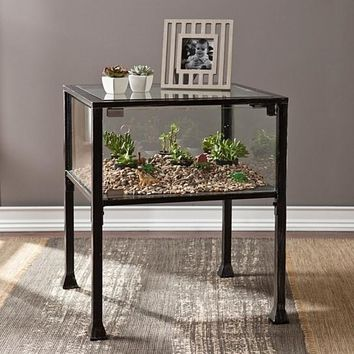 Terrarium Display End Table