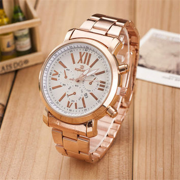 Womens Classic Business Sports Band Strap Watch Best Gift watches-451