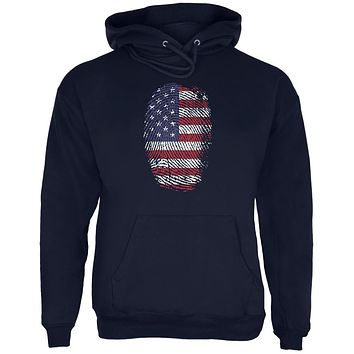 4th of July American Flag Pride Thumbprint Mens Hoodie