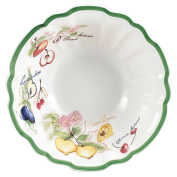 French Garden Arles Fluted Rice Bowl, Serving Bowls
