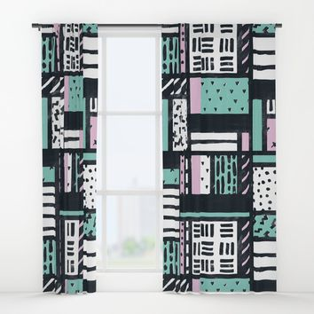 Pattern Pop Window Curtains by MidnightCoffee