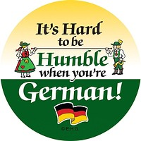 Magnetic Button: Humble German