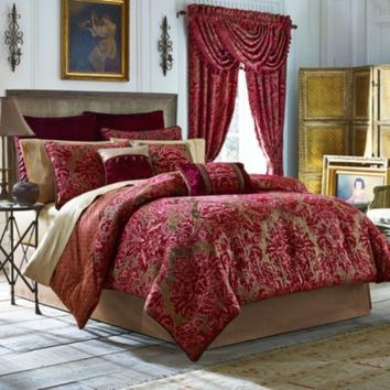 Croscill® Fuchsia 4-Piece Reversible Comforter Set