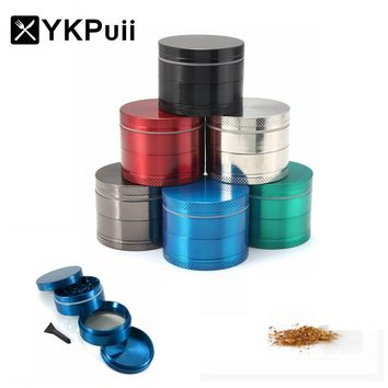 4 Layers Herb Spice Grinder Metal Plate Magnetic Pollinator 50mm Hand Hookah Pipe Tobacco Smoking Pipe Crusher Smoke Filter