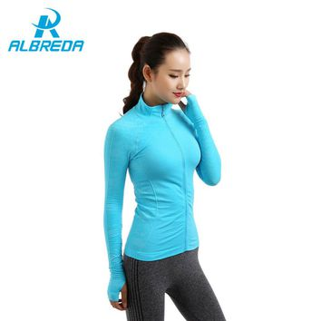 Women's Outdoor Training Fitness Running Yoga T-shirt Long Sleeved Sports Jacket FREE SHIPPING