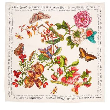 Gucci Talking Bouquet Square Foulard Silk Scarf | Nordstrom