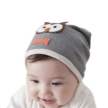 Winter Children baby beanie hats Kids lovely owl Knitted hats Infant hats Soft cotton Spring Autumn Hats Children's Cap 1pc H592