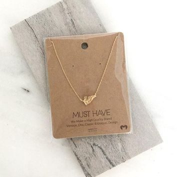 Dainty Leaf Charm Necklace