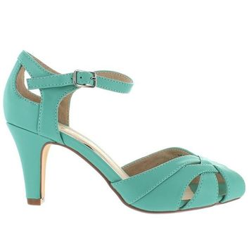 Chelsea Crew Chester - Mint Interwoven Petal Toe Pump