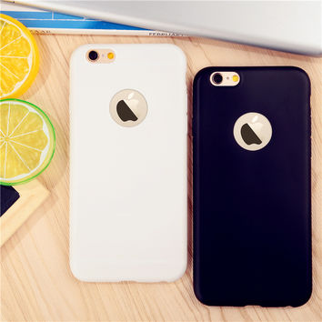 phone cases for iPhone 6 6S 6Plus 6sPlus  5 5s SE 7 7Plus case Ultra thin back cover Candy colorful Soft TPU Silicon coque