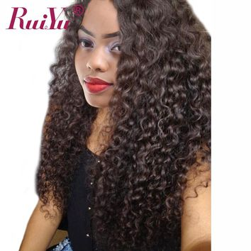 RUIYU Hair Deep Wave Brazilian Hair Weave Bundles Human Hair Extensions Non Remy Hair Bundles Natural Color Can Buy 3 /4 Bundles
