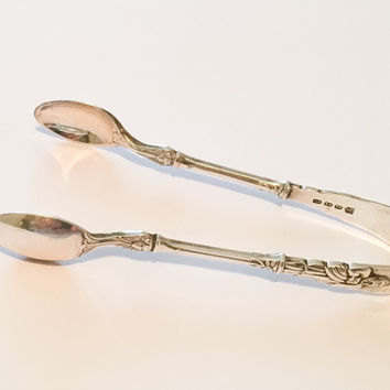 Silver Sugar Tongs, Atkin Brothers of Sheffield, SPRING SALE