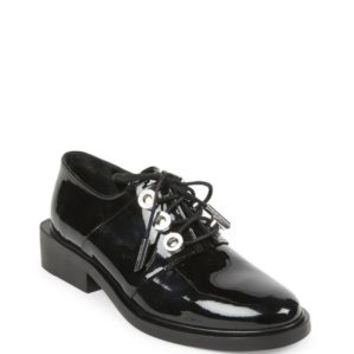 Jimmy Choo - Genna Patent Leather Point-Toe Flats
