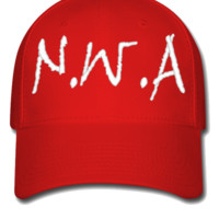 NWA DESIGN EMBROIDERY HAT - Flexfit Baseball Cap